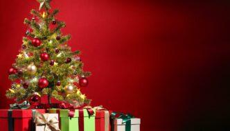 Kerstboom met pakketjes